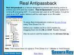 real antipassback