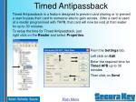 timed antipassback