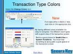 transaction type colors