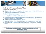 history of compagnie des alpes 20 years of growth