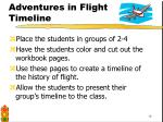 adventures in flight timeline