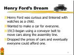 henry ford s dream
