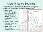 more silicates structure