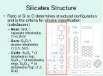 silicates structure