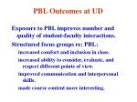 pbl outcomes at ud