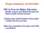 project funded by alo usaid