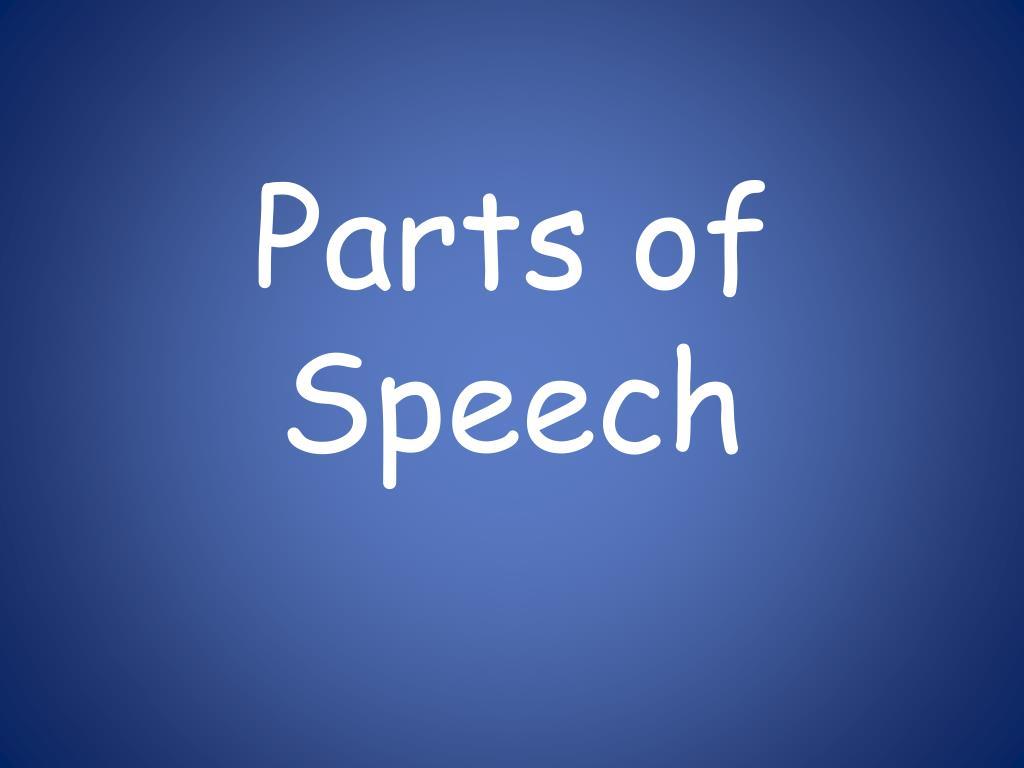 parts of speech l.