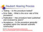 daubert hearing process
