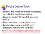 mobile device tools