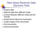 more about electronic data discovery tools