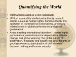 quantifying the world16