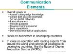 communication elements