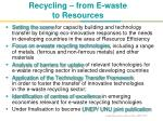 recycling from e waste to resources
