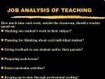 job analysis of teaching