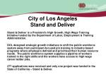 city of los angeles stand and deliver