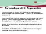 partnerships within organization