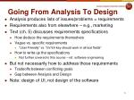going from analysis to design