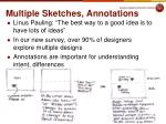 multiple sketches annotations