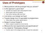 uses of prototypes