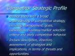 competitor strategic profile