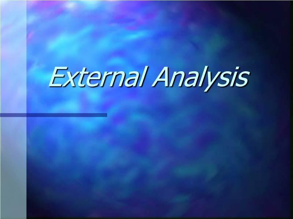 external analysis l.