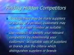 finding hidden competitors
