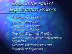 steps in the market segmentation process
