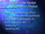 steps in the market segmentation process27