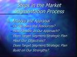 steps in the market segmentation process28