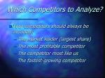 which competitors to analyze16