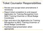 ticket counselor responsibilities15