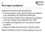 7 why report accidents