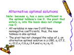 alternative optimal solutions62