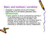 basic and nonbasic variables