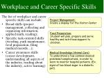 workplace and career specific skills