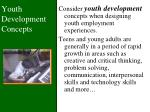 youth development concepts