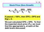 stock price zero growth