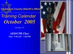 charleston county sheriff s office training calendar