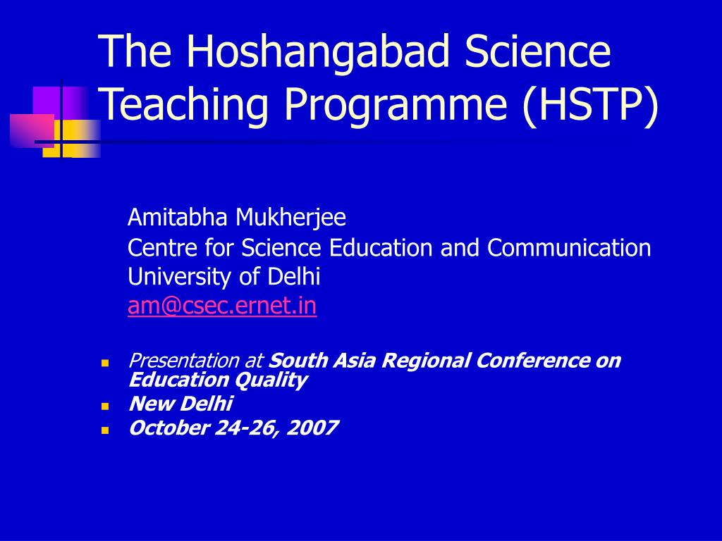 the hoshangabad science teaching programme hstp l.