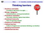 thinking barriers