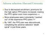 adverse selection harvard university81