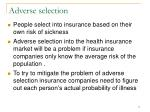 adverse selection71