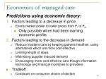 economics of managed care
