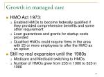growth in managed care114