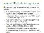 impact of rand health experiment