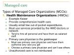 managed care109