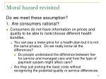 moral hazard revisited54