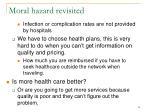 moral hazard revisited55