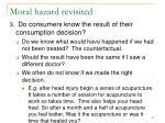 moral hazard revisited57