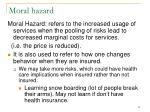 moral hazard39